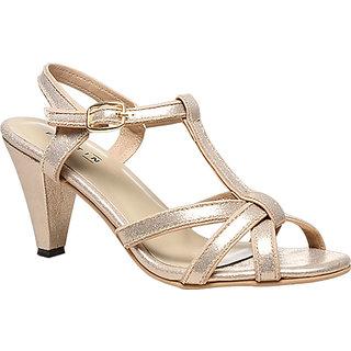 Bata Womens Gold Heels
