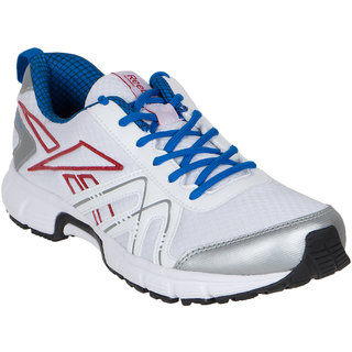 Reebok Men's White Lace-up Running Shoes