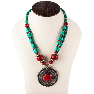 Paradise Red Lock beads Neclace