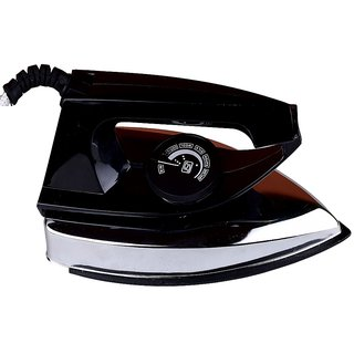 Branded Electric Light Weight Dry Iron - With ISI Safety - Black