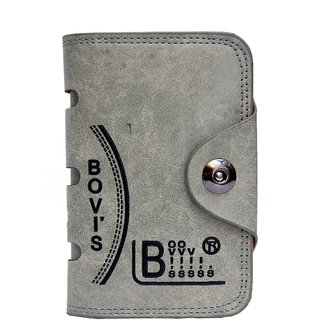 Bovi's Orange Leather Tri-Fold Formal Wallet