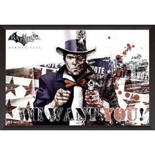 Hungover Two Face Poster Arkham City Artwork Special Paper Poster