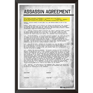 Hungover Assassin Agreement Poster Batman Arkham Origins Special Paper Poster