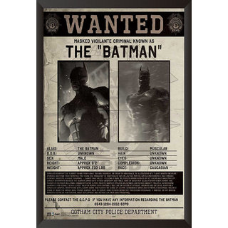 Hungover Wanted Batman Poster Arkham Origins Special Paper Poster