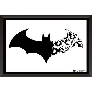 Hungover Batman Logo Arkham Origins Official Artwork Special Paper Poster
