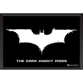 Hungover Batman Logo The Dark Knight Rises Special Paper Poster