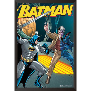 Hungover Batman And Two Face The Urban Legend Artwork Special Paper Poster