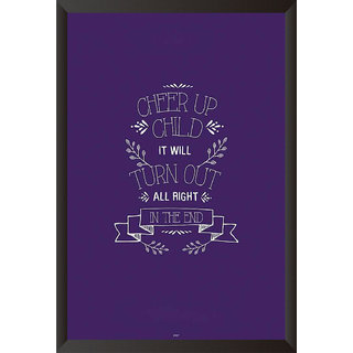 Cheer Up Child Quote Poster