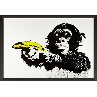 Chimpanzee With Banana
