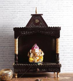 Shilpi Brown Sheesham Wood Exquisite Temple / Mandir / Puja Esstential