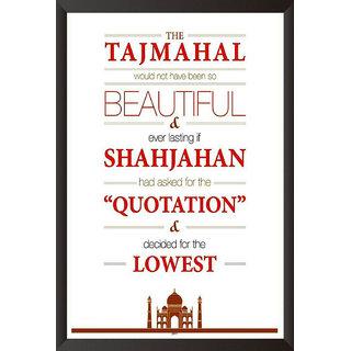 Taj Mahal Quote Poster