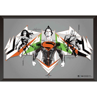 Hungover Batman Vs Superman Logo Artwork Special Paper Poster