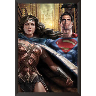 Hungover Wonder Women & Superman Batman Vs Superman Official Artwork Special Paper Poster