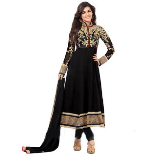 Palashfashion's Royal Looking Black Color Georgette Fancy Designer Salwar suit dress material
