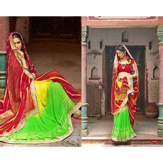 Mohini  Chiffon saree with chiffon blouse