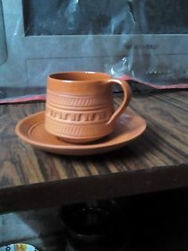 Pure River Soil made 1 Pic Cup and Saucer Set