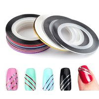 Looks United 10 X Mixed Color Nail Kit Art Striping Rolls Tape Nail Sticker Nail Tip Decoration (Set of 1)