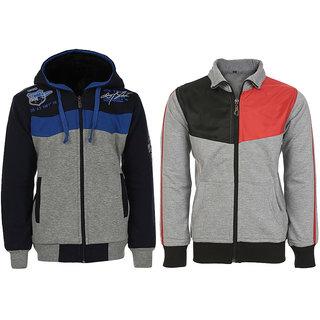 HAIG-DOT Fleece Made Sweatshirt combo for Boys (Pack of 2)