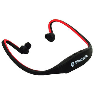 Branded  BS19 Wireless Bluetooth On-ear Sports Headset Headphones (with Micro Sd Card Slot ) -red