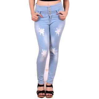 Buy Blinkin Blue Slim Fit Women s Jeans Online - Get 63% Off 55409e820b