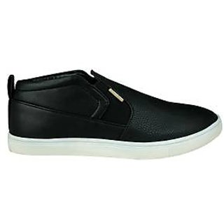 U.S. Polo Assn. Men's Black Slip On Casual Shoes