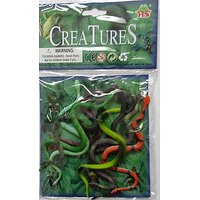 Creatures Series 3 : Set Of 8 Snakes Toys Kids Play Scaring Others Scare Small