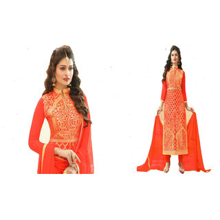 Wadhwa textile Un-stitched salwar suits for women in HEAVY GEORGETTE with matching NARZLING Dupatta