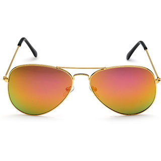 Rico Sordi Brown UV Protection Aviator Sunglass For Men