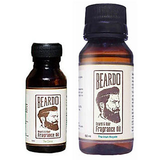 Beardo Beard  Hair Fragrance Oil, The Classic (10ml) And Beardo Beard  Hair Fragrance Oil, The Irish Royale (50ml) Combo.