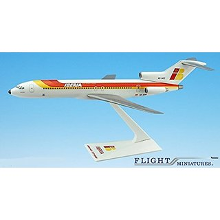 Iberia 727-200 Airplane Miniature Model Plastic Snap Fit 1:200 Part# ABO-72720H-030