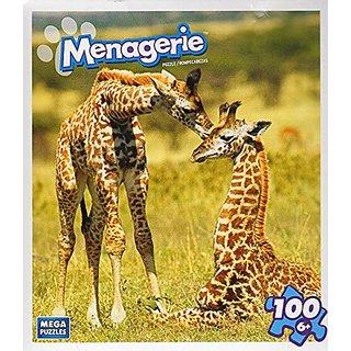 Menagerie 100 Piece Puzzle - Newborn Giraffe Calves
