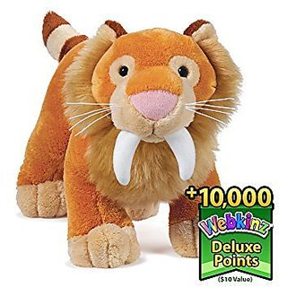 Webkinz Sabertooth Tiger + 10 $ value of Deluxe points