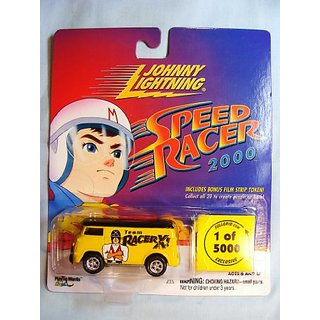 Johnny Lightning Speed Racer 2000 Team Racer X 60s VW Van Yellow Black 1 of 5000 by Playing Mantis