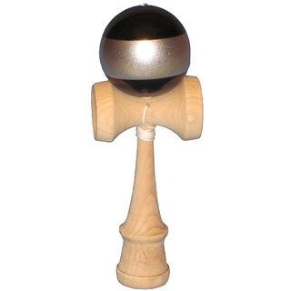 5K Kendama - Black with Silver Stripe, Extra String Included