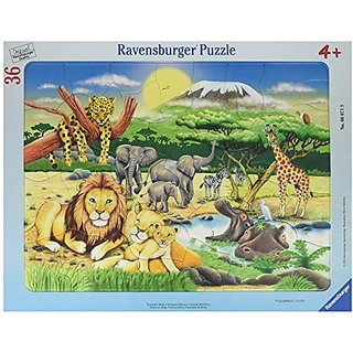 Ravensburger African Animals Frame Puzzle (36-Piece)