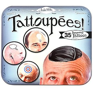 Cover Up Your Baldness-Make A Statement-Set Of 35 Tattoos