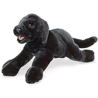 Folkmanis Black Labrador Puppy Puppet