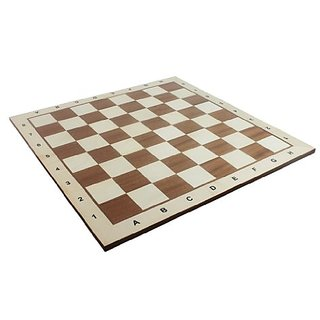 Chess Board No. 6 - Exact Detail and Lettering for Professional Tournament Use - Mahogany and Sycamore Wood