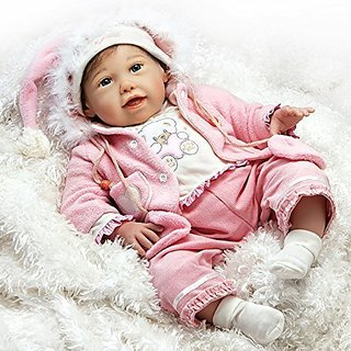 Paradise Galleries Lifelike Realistic Baby Doll, Cuddle Bear Bella, 21 inch GentleTouch Vinyl Weighted Body