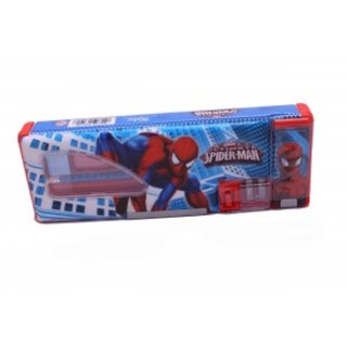 Spiderman Pencil Box With Stationery Items