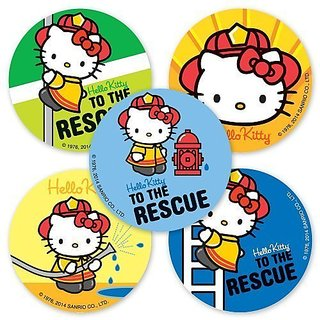 Hello Kitty Firefighter Stickers - 75 Per Pack-$6.29 or only $0.08 per sticker only from SmileMakers