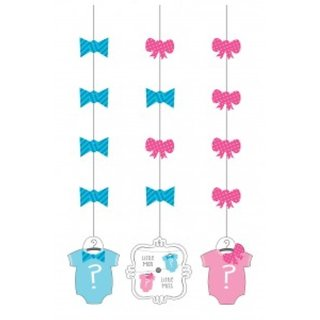 Bow Or Bowtie Hanging Cutouts (3Pcs/Pack)