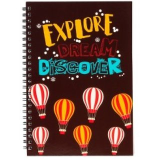 Explore Dream Discover Spiral Diary (A5)