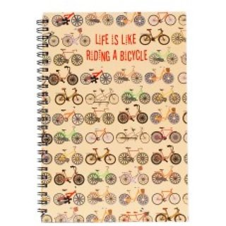 Life Is Like Riding A Bicycle Spiral Diary (A5)