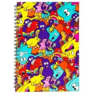Mr Doodle Monster Pattern Spiral Diary (A5)