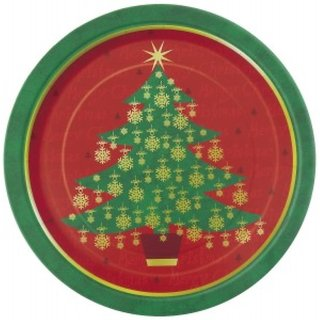 Funcart Golden Christmas 7Inch Plate