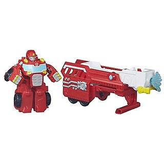 Easy-to-do conversion from robot mode to fire truck mode and back-Tow the trailer-Heatwave the Fire-Bot figure is sized