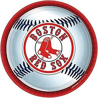 Amscan Boston Red Sox Round Dinner Plates, 9