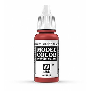 Vallejo Acrylic Paint, Flat Red