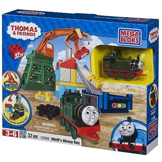 Unload garbage with the help of the garbage claw and dump it into the bins-Compatible with all other Thomas and Friends